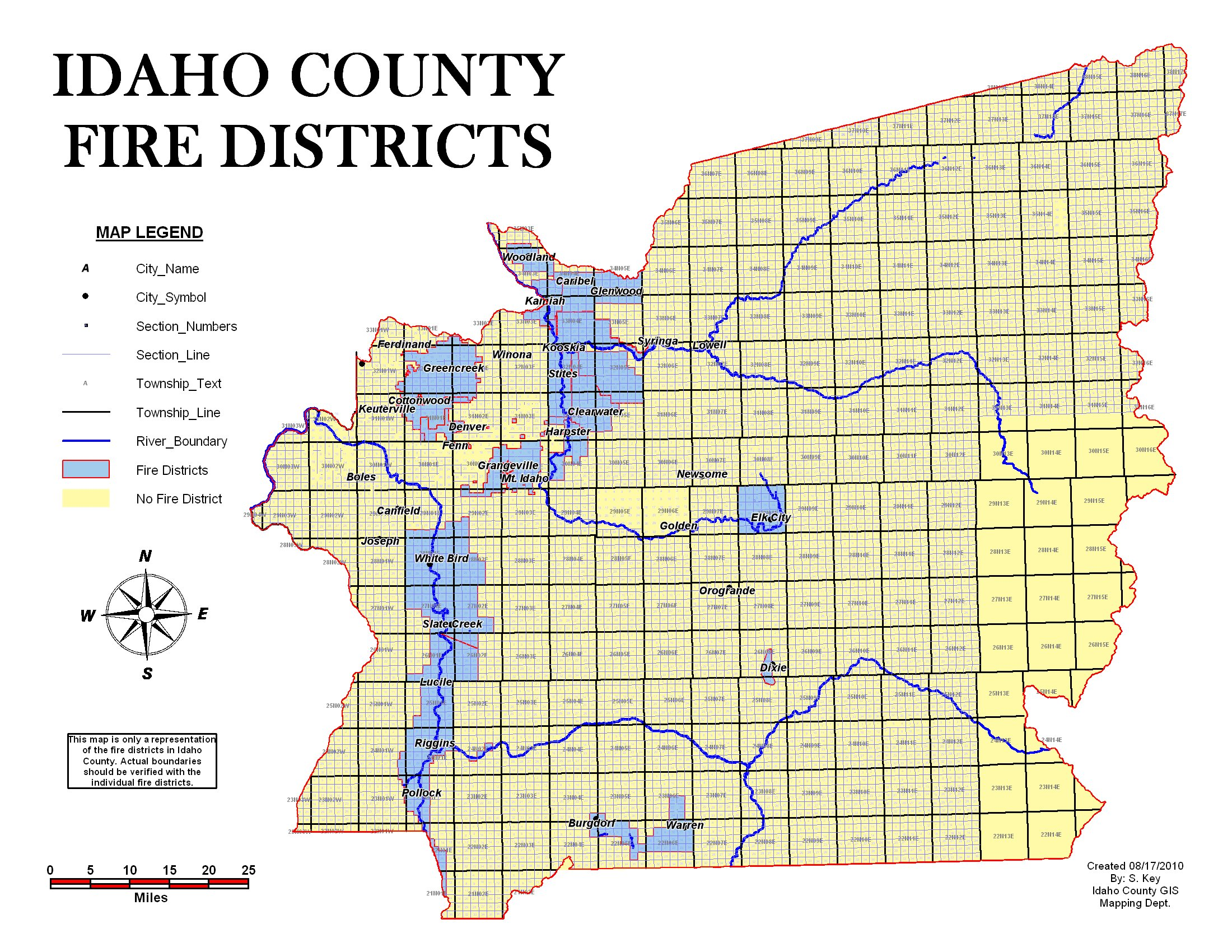 County Line 2 Fire Map.Fire District Map Official Idaho County Site